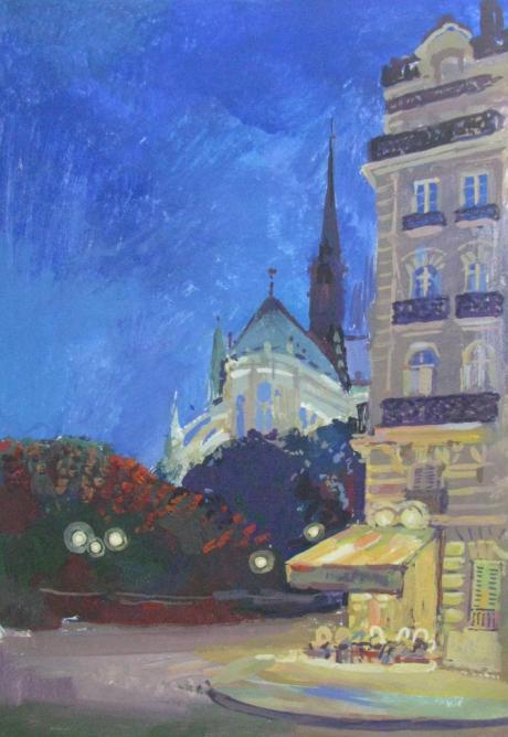 Notre-Dame de Paris. La nuit.