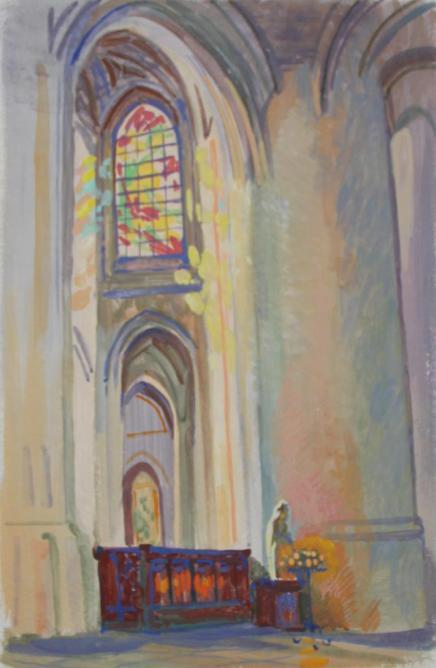 L'intérieur de l'église Saint-Gervais.