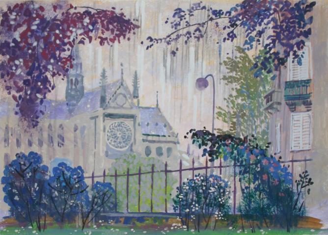 Notre-Dame de Paris. La pluie.