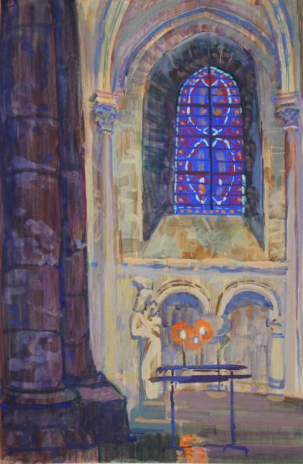 Vitrail de l'église Sainte-Geneviève-des-Bois